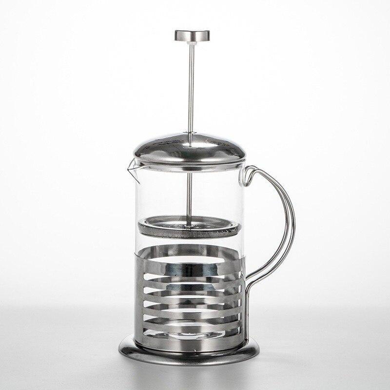 Ручной кофе Es пресс o чайник из нержавеющей стали стеклянный чайник кофейник французский кофе Перколятор фильтр пресс плунжер|Кофейники|   | АлиЭкспресс