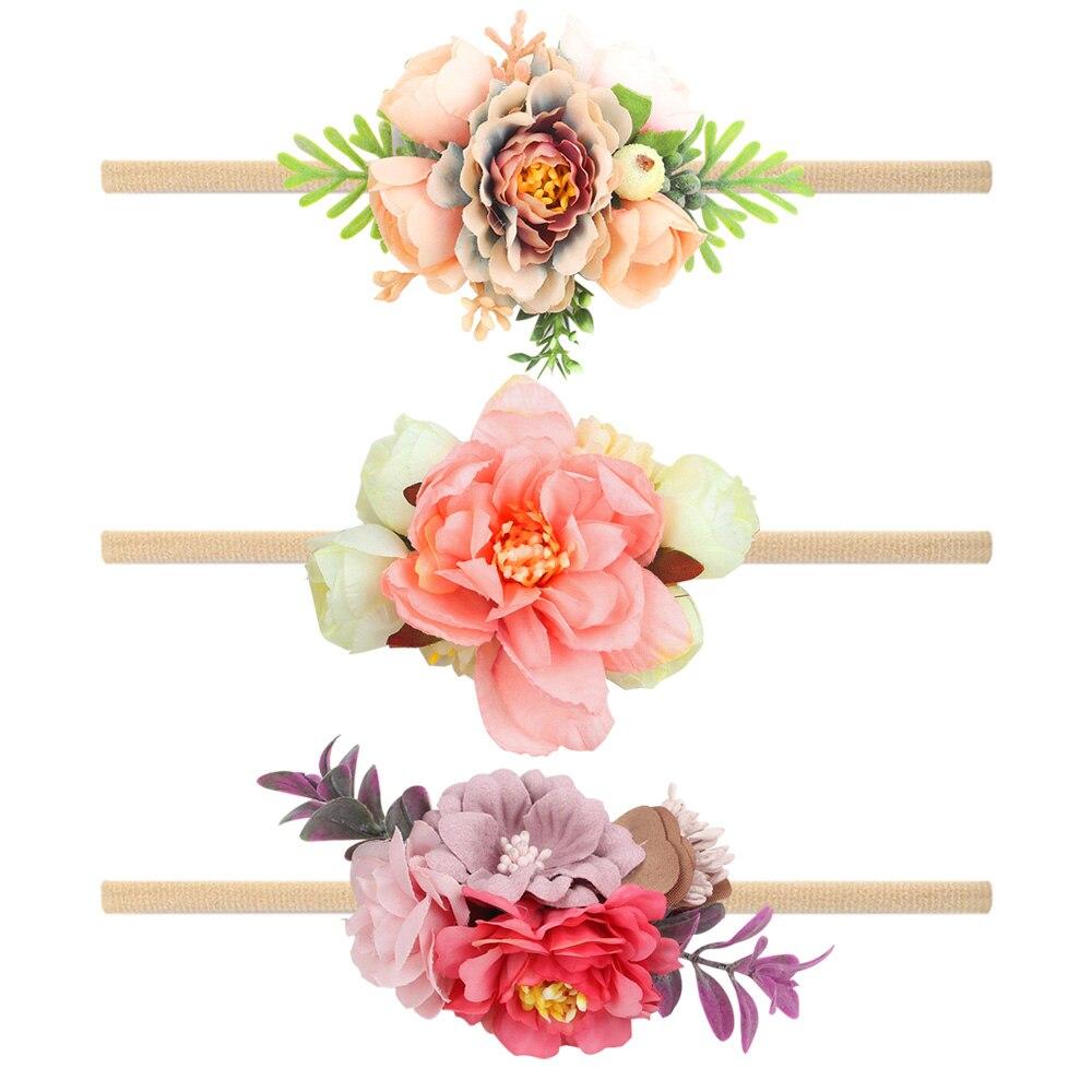 2020 neue Mädchen Neugeborenen Bogen tiara Turban verband Mädchen Neugeborenen Kristall Verband Turban Blume Floral Headwear Tiara