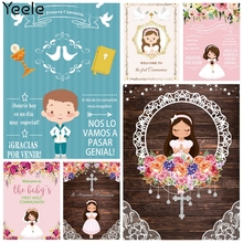 Yeele Photocall First Communion Backdrop Details Banner Party Decor Girl Boy Flowers Background Photography Photo Studio Props