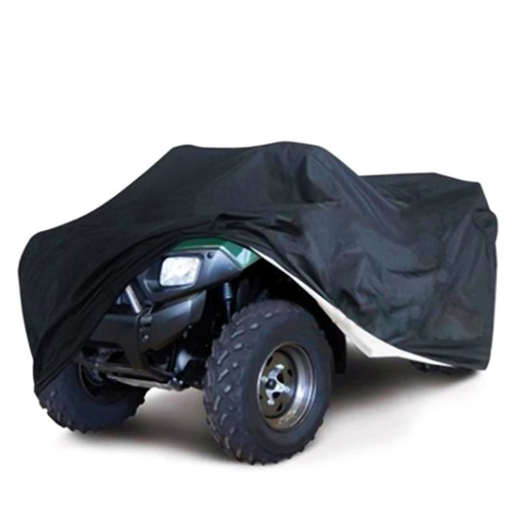 190T ATV Car Covers Vehicle Shelters Waterproof Dust Rain Protectors Canopy Outdoor Silver Black
