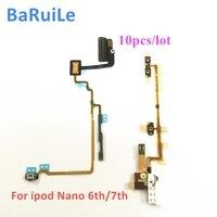 BaRuiLe-Cable flexible para iPod Nano 6, 7, 6 y 7. ª generación, botón de encendido y apagado, piezas de reparación de cinta, 10 Uds.