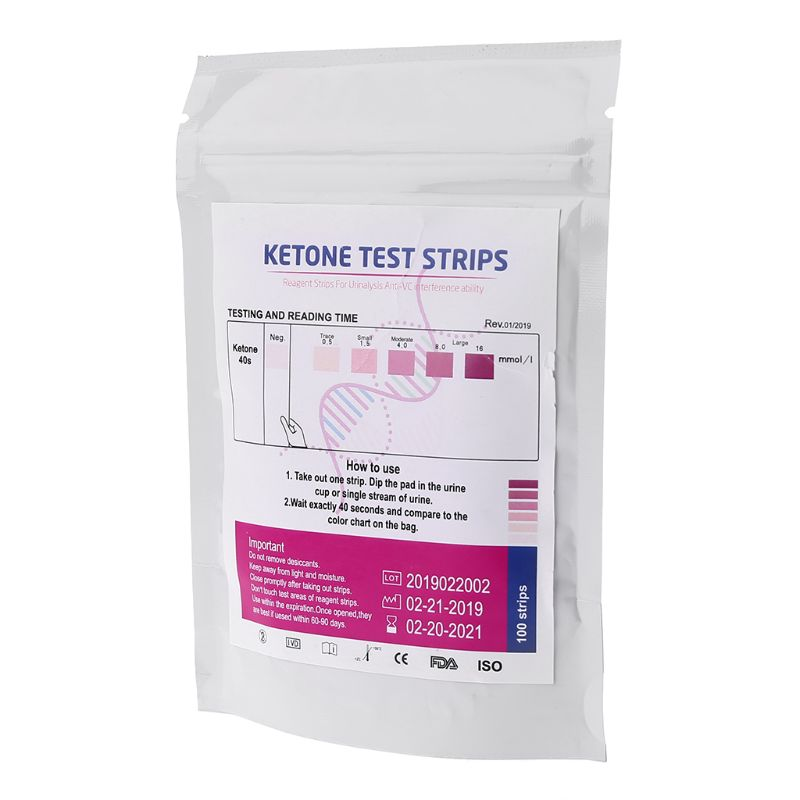 1 набор 100 шт URS-1K тест-полоски кетон реагент тест ing моча анти-vc мочи Домашний Тест кетоза s анализ Профессиональный быстрый Te