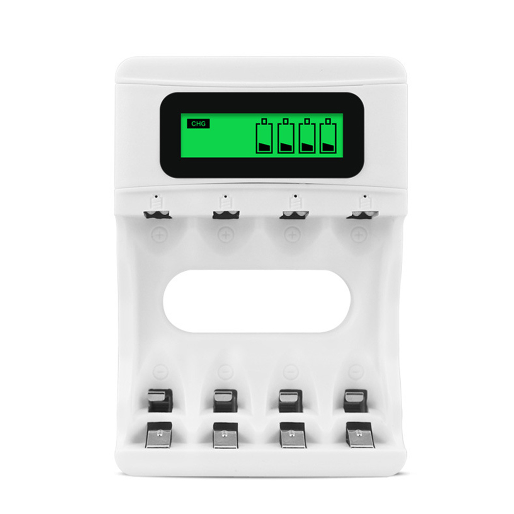 Charger LCD Display Four Slot Electrical Tools USB Battery Charging Smart Quick Charging Rechargeable