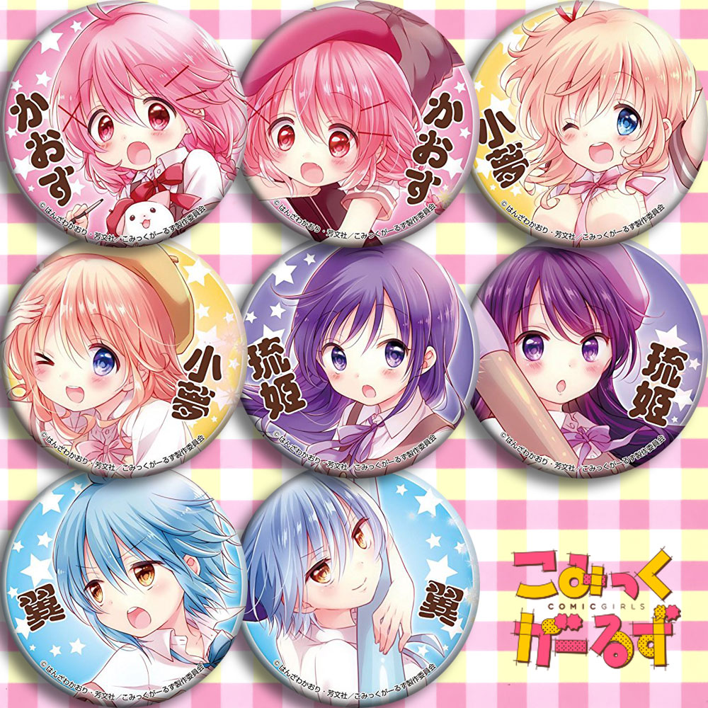 Japan Anime Comic Girls Meng Tian Cosplay Badge Cartoon Collection Bags Badges For Backpacks Button Clothes Brooch Pins Gifts