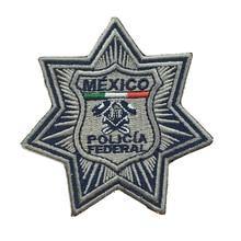 軍事パッチメキシコ警察刺繍バッジメーカーアイロンバッキング 3.0 インチ可能性として行うロゴ