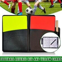 Arbitro di calcio Red Yellow Card Record Football Match scheda di avvertimento per sport WHShopping