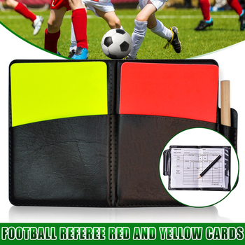 Soccer Referee Red Yellow Card Record Football Match Warning Card for Sports WHShopping недорого