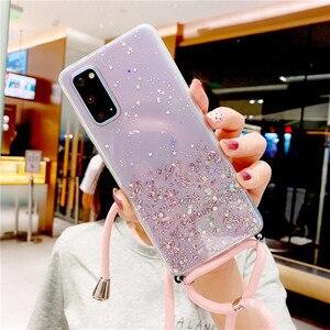 Ожерелье цепочка чехол для телефона Samsung Galaxy S21 ультра S20 FE плюс A02 A02S A12 A32 A42 A52 шейный регулируемый ремешок на шею шнур веревка крышка|Бамперы|   | АлиЭкспресс