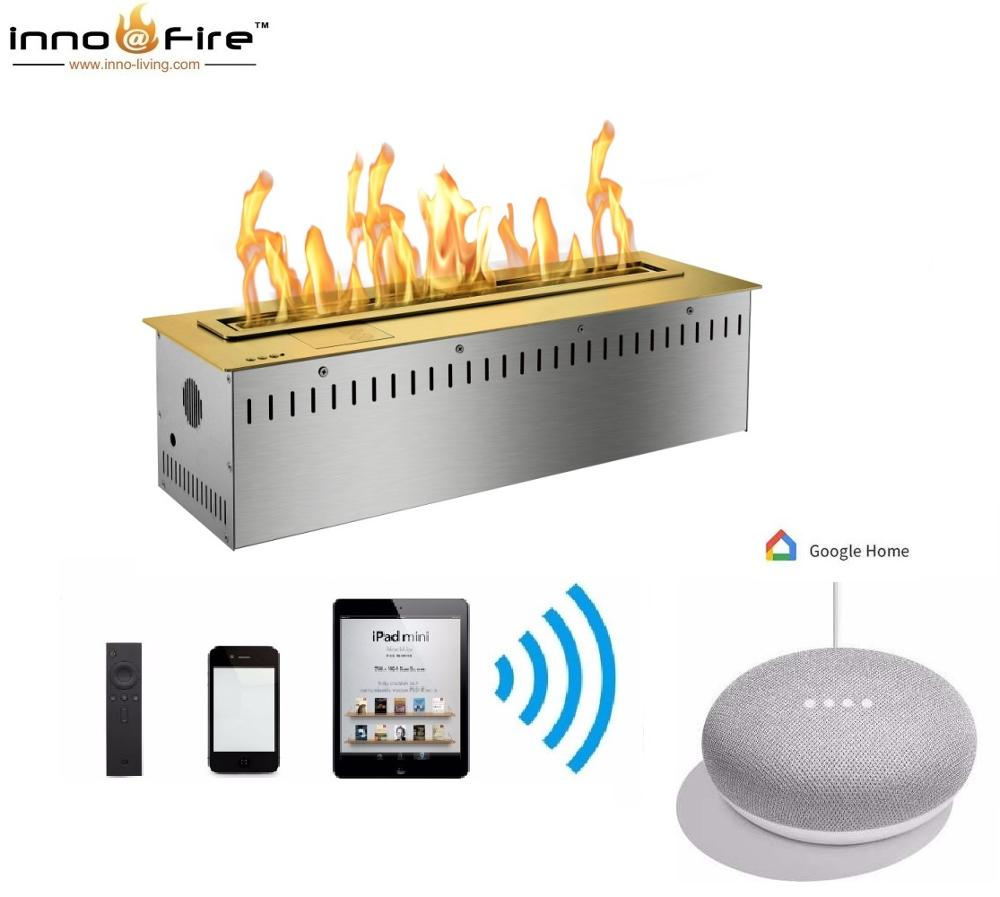 Hot Sale 30 Inches Smart Home Automation Fireplace Remote Control Ethanol Burner