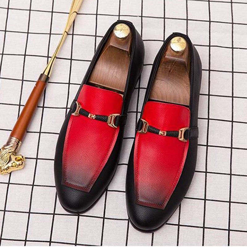 Mocassins de mode de marque conduite paresseux chaussures hommes décontracté bureau chaussures formelles hommes sans lacet en cuir chaussures habillées A51-70