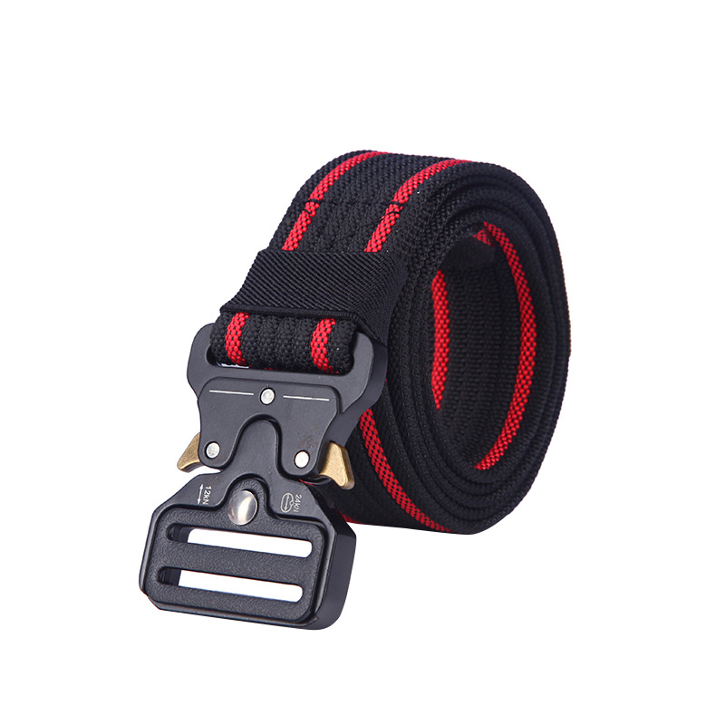 Tactical Belt High Quality Nylon Men's Training Belt Metal Multifunctional Buckle Outdoor Sports Hook