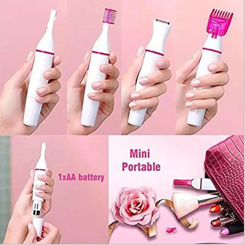 Multifunction Electric Epilator for Women Face Underarm Bikini Eyebrow Trimmer Portable Female Shaver 5in1 Hair Removal Machine kemei epilator for women rechargeable hair removal machine electric lady shaver for bikini body face underarm usb charger