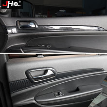 Jho углеродное зерно внутренняя дверная ручка панель накладка