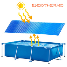 Solar Swimming Pool Cover Rainproof Dust Cover Blue Round Tarp For Family Garden Pools Swimming Pool Accessories swimming pool cover spa rainproof dust covers for outdoor swim sports gym cover accessories