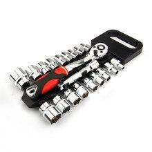 Crv – jeu de clés à cliquet réversibles à dégagement rapide, avec support de suspension, jeu de douilles d'entraînement de 1/4
