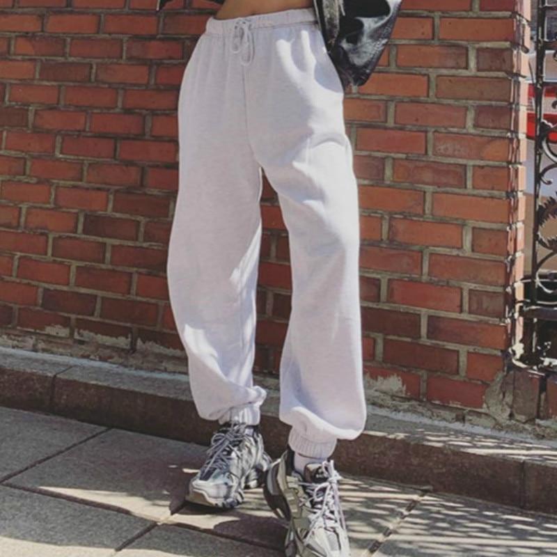 HOUZHOU Harem Pants For Women High Waist Trousers Women Loose Solid Casual Pants Jogger Mujer Hip Hop Hippie Sweatpants Women