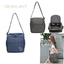 COLORLAND shoulder bag portable Mummy multi-function Messenger out waterproof insulation bottle diaper