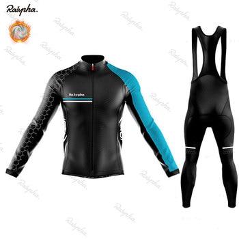 Nw 2019 inverno velo térmico manga longa camisa de ciclismo conjunto bib calças ropa ciclismo roupas da bicicleta mtb roupas dos homens terno 1