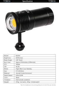Image 5 - Nitescuba NSV60 diving video light 6000lumen High CRI=90