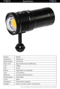 Image 5 - Nitescuba NSV60 diving video luce 6000lumen Alta CRI = 90