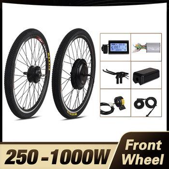 ChamRider piasta koła silnik z przodu 1000W silnik do roweru elektrycznego zestaw 250W e zestaw rowerowy 500W zestaw do zamiany na rower elektryczny zestaw do roweru elektrycznego zestaw rowerowy MXUS tanie i dobre opinie CN (pochodzenie) Bezszczotkowy 48 v 400 w Bezszczotkowy silnik na piaście