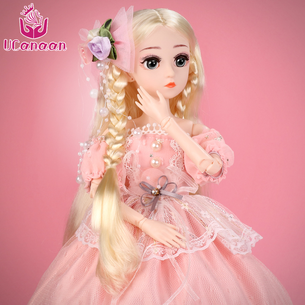 UCanaan BJD poupée, 1/4 SD poupées 18 pouces 18 boule articulée poupées avec des vêtements tenue chaussures perruque maquillage meilleur cadeau pour les filles