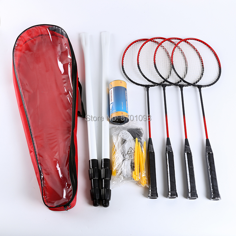 Badminton Set 2020 Professional Iron Badminton Set 4 Rackets 3 Balls With Bag