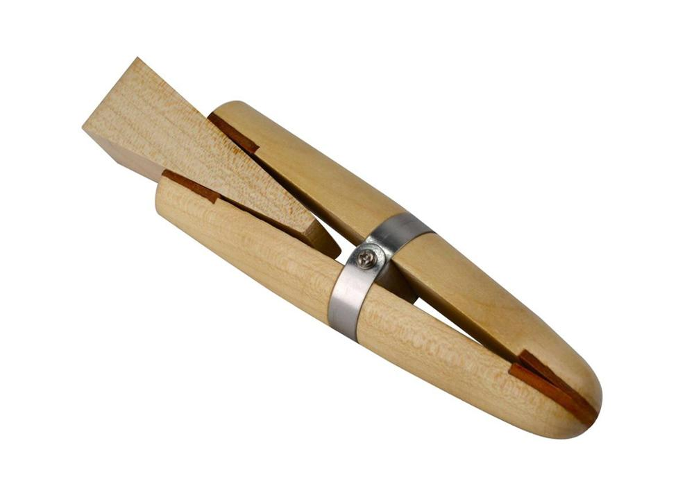 Wood Ring Clamp Jewelers Holder Jewelry Making Hand Tool Benchwork Professional Wood Tweezers