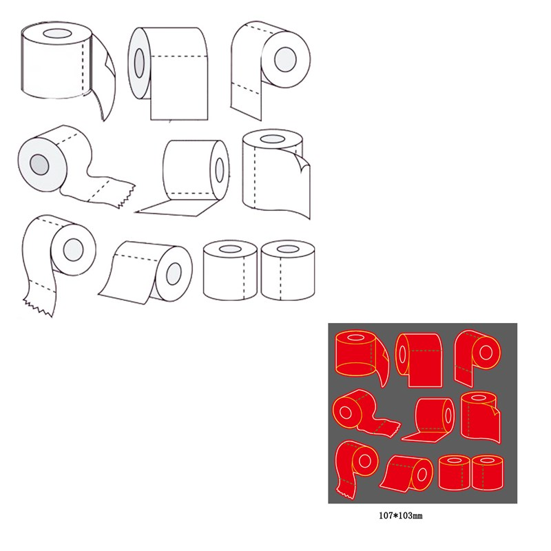Toilet Roll Metal Cutting Dies 2020 New DIY Scrapbooking Frame Die Craft Embossing Cutting Die