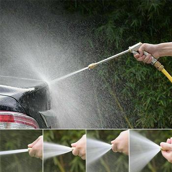 Pistolet na wodę pod wysokim ciśnieniem metalowy pistolet na wodę myjnia samochodowa Spray myjnia samochodowa narzędzia ogród strumień wody pod ciśnieniem myjka ciśnieniowa akcesoria samochodowe tanie i dobre opinie CN (pochodzenie) Miedziane STOP Do dłoni Wentylator Silver dropshiping wholesale