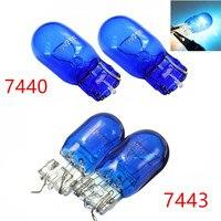 2 unids/lote lámpara halógena W21 5W T20 580 7443 7440 xenón blanco 5000K luz lateral halógena Hid bombilla soporte Dropship|Bombillas halógenas|Luces e iluminación -