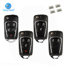 OkeyTech 2/3/4/5 Button Replacement Modified Flip Key Shell for Vauxhall Opel Astra j h g Insignia Corsa Chevrolet Cruze Buick