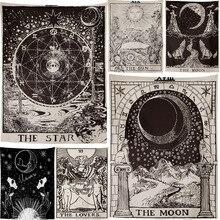Гобелен с Луной лучшего качества, расшитый звездами, настенный подвесной гобелен с астрологией, покрывало, пляжный коврик