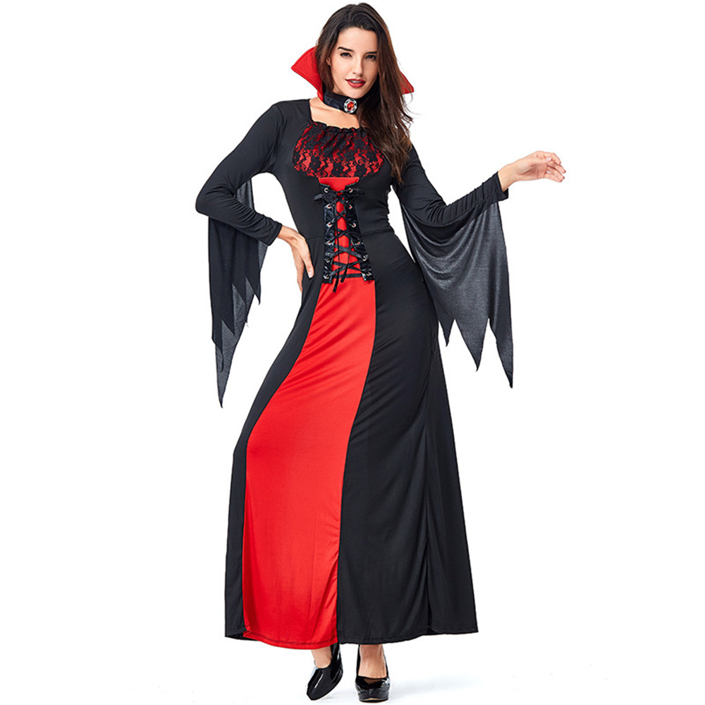 New festival <font><b>Halloween</b></font> <font><b>Costume</b></font> <font><b>Sexy</b></font> <font><b>Vampire</b></font> <font><b>Costume</b></font> Women Party Cosplay Gothic <font><b>Halloween</b></font> Dress <font><b>Vampire</b></font> Role Play Witch image