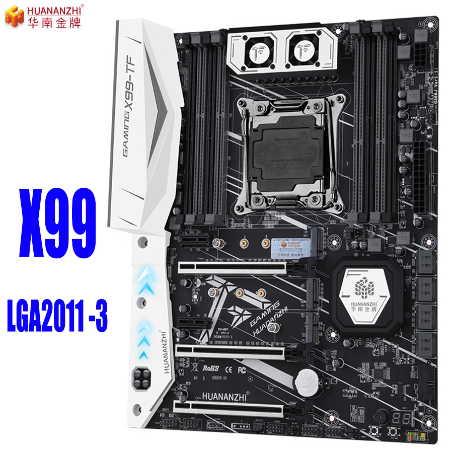 HUANANZHI X99 TF huanan Motherboard Intel X99 tf LGA 2011 3 All Series DDR3/DDR4 RECC SATA3.0 M.2 NVME M.2 WIFI USB3.0 SPDIF ATX(China)