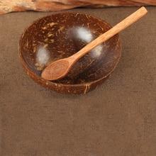 Натуральный кокос Чаша Украшение фруктовый салат лапша, рис чаша деревянные фрукты чаша украшение ручной работы креативная миска из скорлупы кокоса фруктовница деревянная чаша