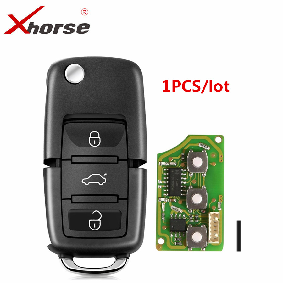 X001-01 Xhorse For V-W <font><b>Remote</b></font> <font><b>Key</b></font> Chip Shell 3 Buttons Board For B5 Type VVDI2 Mini Auto <font><b>Remote</b></font> <font><b>Programmer</b></font> image