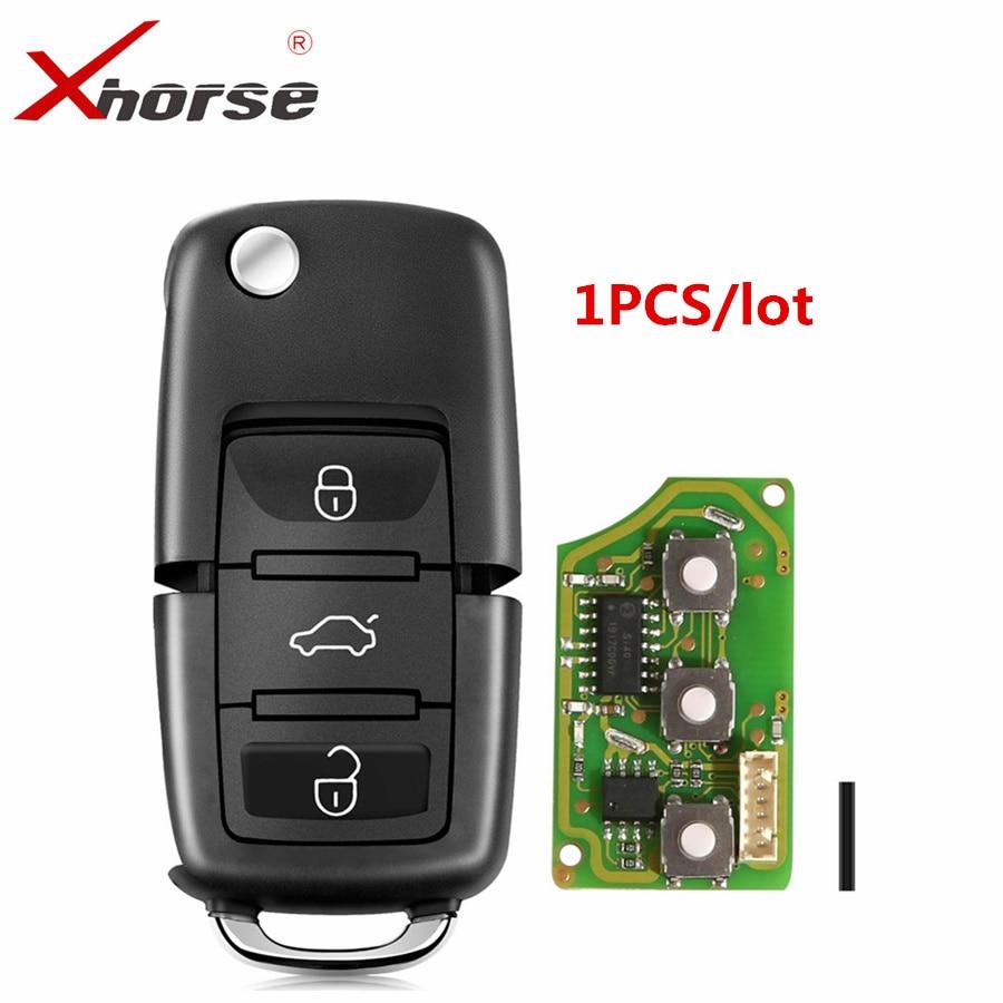 Xhorse XKB501EN проводной дистанционный ключ для B5 флип 3 кнопки английская версия универсальный дистанционный ключ один шт-0