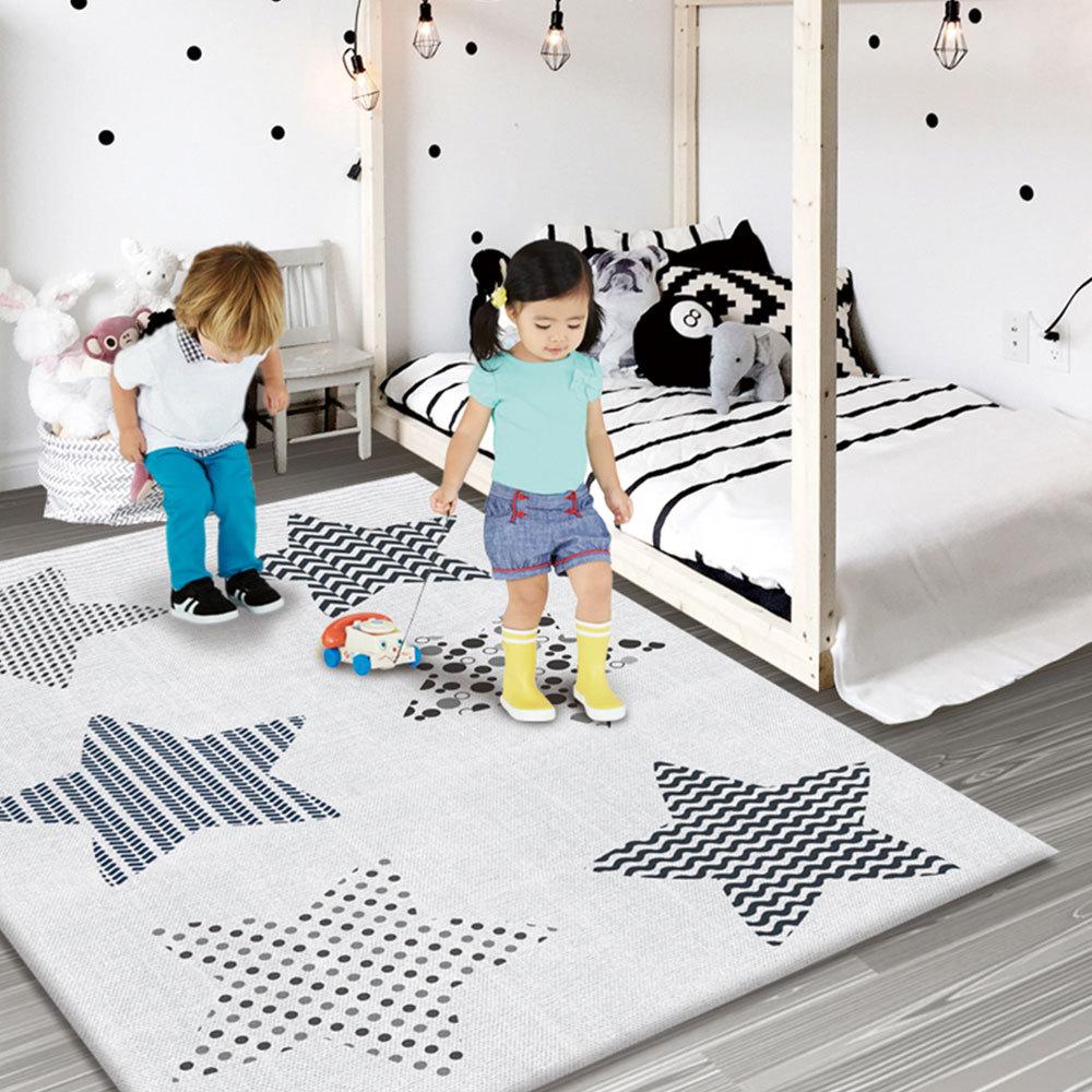 Tapis de jeu anti-dérapant pour bébé tapis de jeu pliant pour enfants tapis de jeu en mousse souple tapis rampant pour matelas de jeu tapis d'activité pour bébé - 4