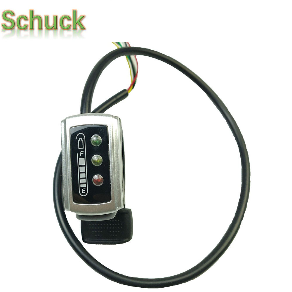 SCHUCK Ebike Parts 106DX Thumb Throttle 36V 48V Speed Control 6 Wires Throttle With ON/OFF Switch For Ebike Free Shipping
