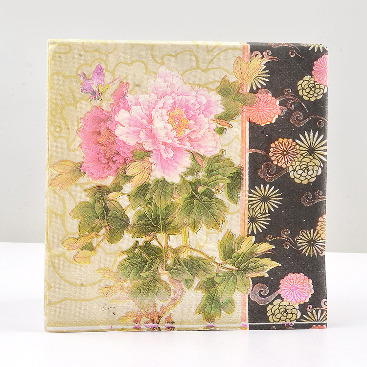[Factory] Peony Color Printing Paper Napkin