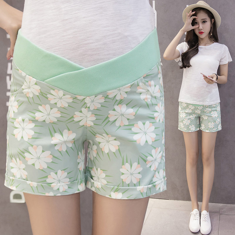 2020 Maternity Shorts for Pregnant Women High Waist Pregnancy Pants Maternity Clothes Straight Trouser Pregnancy Clothing