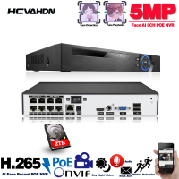 H.265 H.264 POE NVR Security IP Camera video Surveillance CCTV System ONVIF 1080P 4MP 5MP Network Video Recorder 4CH 8CH