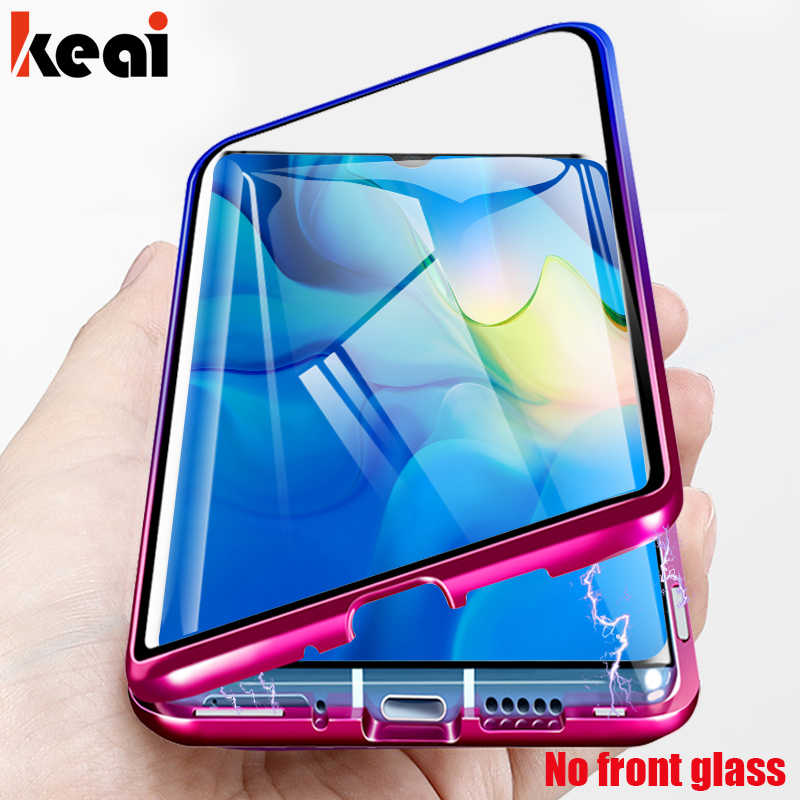 Magnetic Adsorption Case For Huawei Mate 20 Pro 10 P20 Lite Shockproof Case For P Smart 2019 P30 Lite Tempered Glass Back Cover