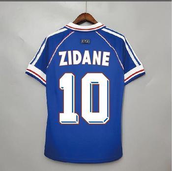 Maillot de Zidane pour hommes, modèle rétro, classique, Vintage, envoi rapide, 1998 1