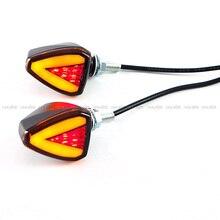 For KAWASAKI NINJA 300 400 EX300 EX400 Motorcycle LED Turn Signal Indicators Light Amber Blinker Led Lamp Retrofit Styling 4236058 excavator arm cylinder seal kit for hitachi ex400 1 ex400