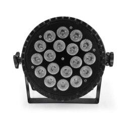Led par licht 18x18W RGBWA UV 6in1 led wash verlichting LED Platte Par Kan Podium verlichting met stille ventilator 18x12w RGBW