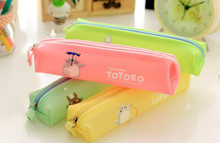 1pcs/lot New Japan Cartoon jelly Color animals series pencil bag  pouch Fashion gifts Korean stationery