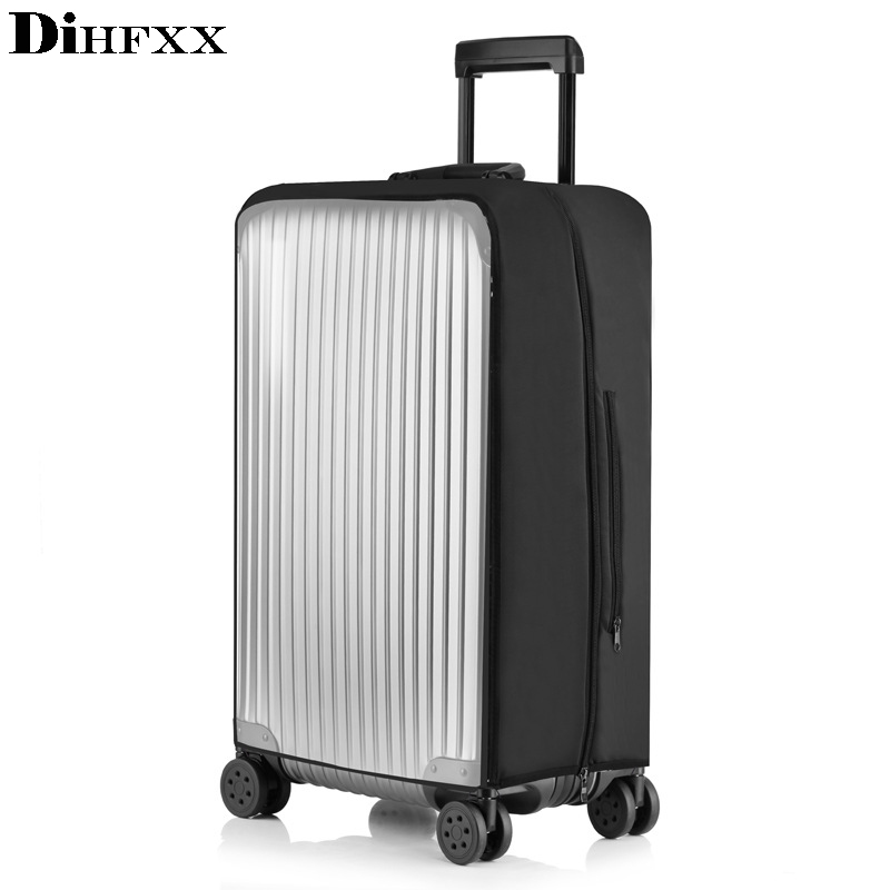 DIHFXX PVC Transparent Protective Dust Cover For Luggage Elastic Waterproof Trolley Case Rain Bags Travel Suitcase Accessories
