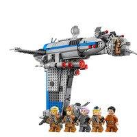 In stock Rebel Bomber Set Star Toys Wars Classic Series Building Blocks Bricks Legoinglys Starwars 75188 Toys for children Gift